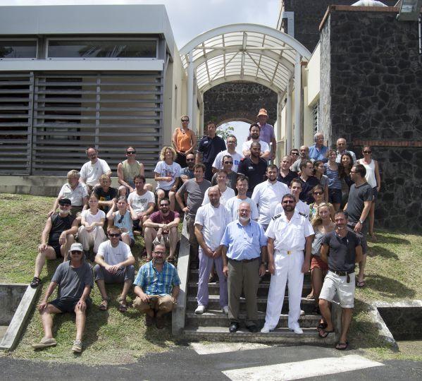 Photo de groupe : les scientifiques et le cercle de la base de défense des Antilles ! © Kevin Le Maurice / Cercle de la base de défense des Antilles