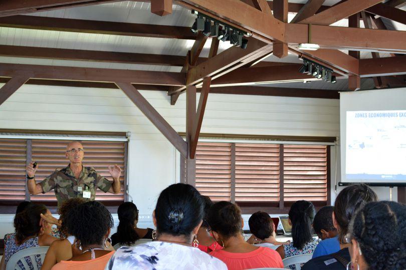 Présentation du Colonel Tissier, journée du 21 septembre © Natacha Ouvrié / MNHN / Madibenthos